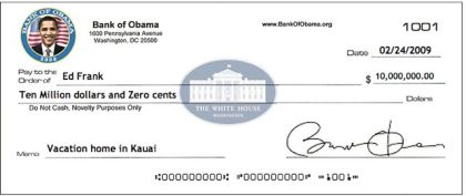 My Bailout Check!